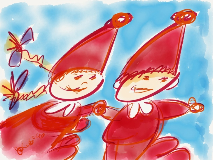 Lucia and her girls are coming to perform in a school. 11th drawing of Christmas Calendar.
