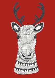 Reindeer, drawing of Mari