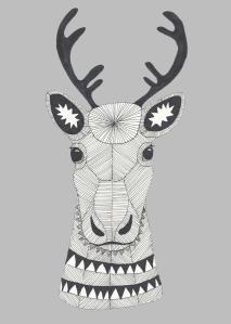 Reindeer - drawing of Mari